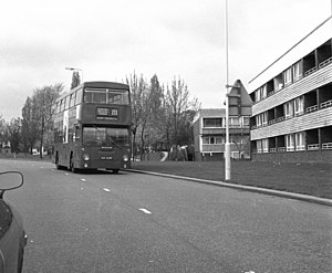 Roundshaw - Mollison Drive, Roundshaw, April 1981