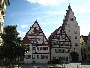 Monheim, Bavaria - The southern gate of Monheim