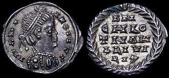 Chlothar I - Silver coin of Chlothar I