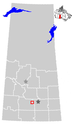 Location of Moose Jaw