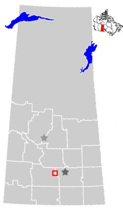 Location of Moose Jaw, Saskatchewan