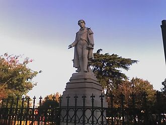 Moreno, Buenos Aires - Statue of Mariano Moreno (1778-1811), Argentine politician from whom the city takes its name.