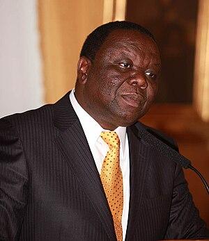 Morgan Tsvangirai Oslo 2009 A