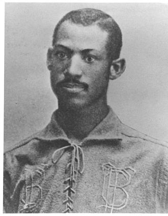 Baseball color line - Moses Fleetwood Walker of the Toledo Blue Stockings, circa 1884.