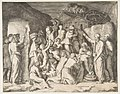Moses at right telling the Israelites to gather the manna and at left Moses striking the rock MET DP812437.jpg