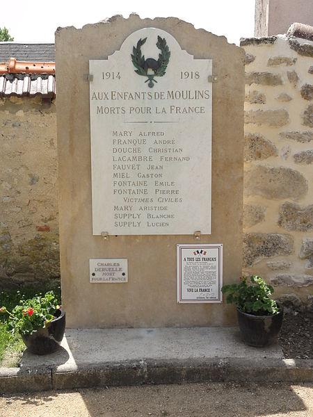 Moulins (Aisne) monument aux morts