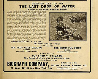 The Last Drop of Water - Advertisement for the film