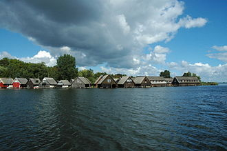 Müritz - Boathouses in front of Röbel