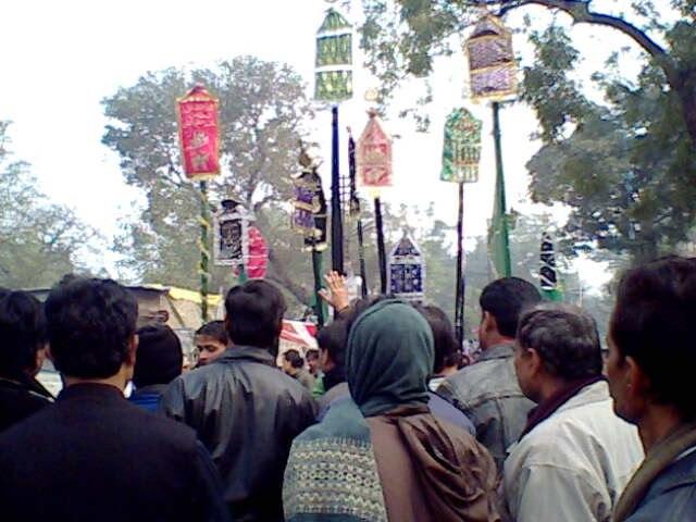 Muharram (Al'am) procession Barabanki India (Jan 2009)