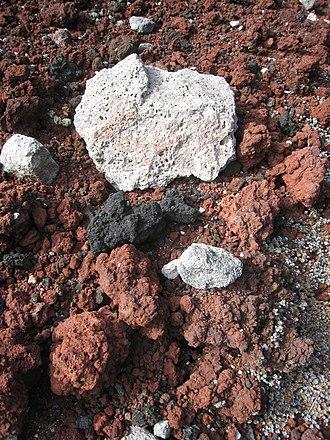 Scoria - Image: Multi coloured scoria in the Tarawera rift