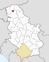 Location of the municipality of Mali Iđoš within Serbia