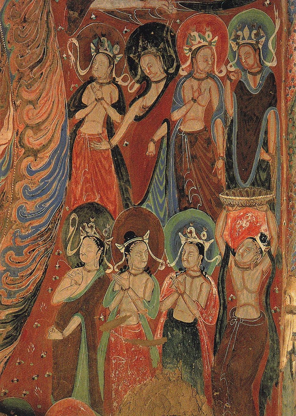 Mural Worshipping Bodhisattva