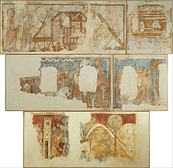 Mural paintings with Old Testament scenes