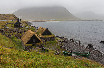 An example of a very small museum: A maritime museum located in the village of Bolungarvik, Vestfirdir, Iceland showing a 19th-century fishing base: typical boat of the period and associated industrial buildings Museo maritimo Osvor, Bolungarvik, Vestfirdir, Islandia, 2014-08-15, DD 066.JPG