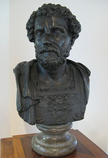 A bust of Hannibal, 17th century, Museum of Antiquities (Saskatoon) Museum of Antiquities Hannibal.JPG