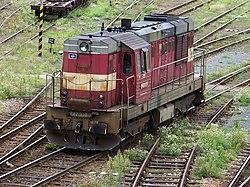 Nákladové nádraží Žižkov, lokomotiva 742.330.jpg