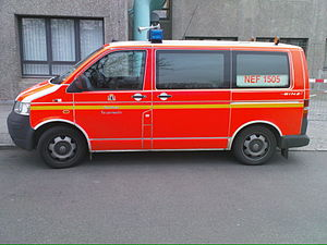 Binz (vehicles) - Ambulance for fire-fighting services made by Binz