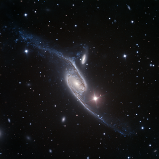 NGC 6872 barred spiral galaxy in the constellation Pavo