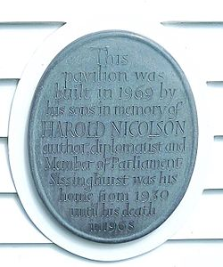 Photo of Harold Nicolson stone plaque