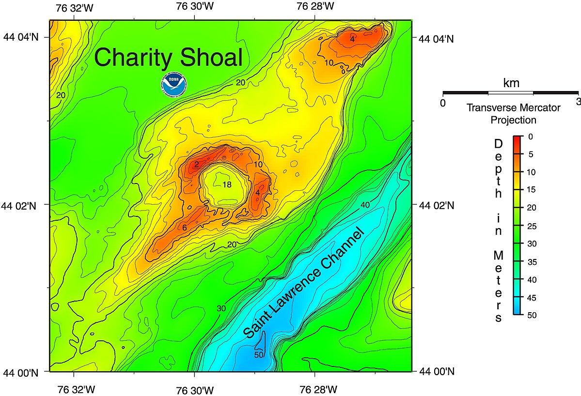 Charity Shoal crater - Wikipedia