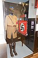 NSDAP Sturmabteilung SA uniform Schaftmütze kepi cap shorts lederhosen dagger High boots Deutschland Erwache Standarte Swastika banner Nazi brownshirt uniform Münchner Stadtmuseum Th. Quine CC-BY-2.0.jpg