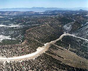 Pahute Mesa - Aerial view of Pahute Mesa