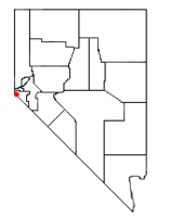 Location of Zephyr Cove–Round Hill Village, Nevada