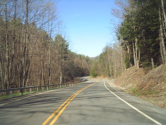 New York State Route 223 - NY 223 eastbound heading through Swartwood Hill