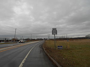New York State Route 270 - NY 270 northbound after Beach Ridge Road in Pendleton