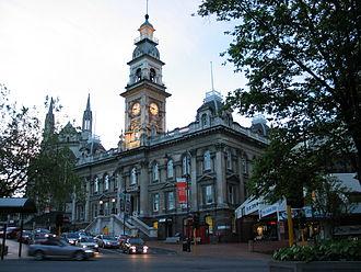 Dunedin Town Hall - The Octagon (south) facade