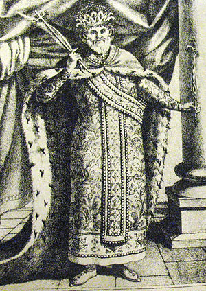 Ivan Asen I of Bulgaria - Lithograph by Nikolai Pavlovich