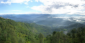 Nagarkot's view of the mountain range.jpg