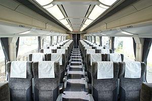 Meitetsu 1600 series - Image: Nagoya Railroad Series 1600 Cabin 01