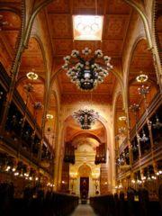 Innenansicht - große Synagoge in Budapest