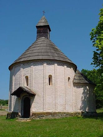 Hungarian art - Several Romanesque village churches in Hungary were constructed in rotunda form, as here at Nagytótlak.