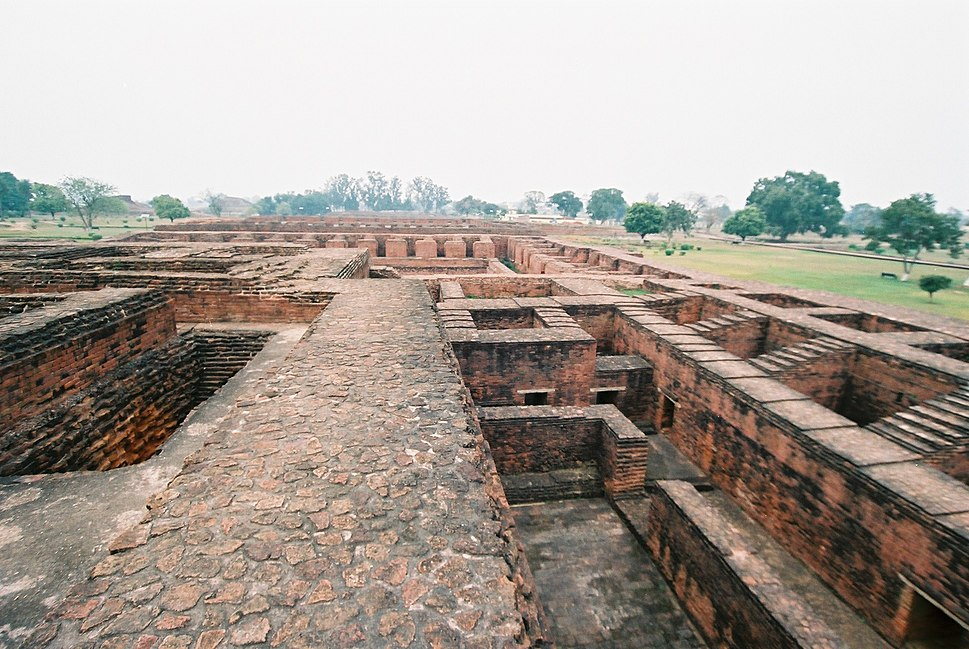 Nalanda Buddhist University Ruins, which flourished from 427 to 1197 CE, Nalanda, Bihar