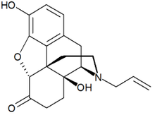 Chemical structure of Naloxone