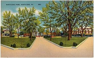 Nanticoke, Pennsylvania - An old postcard of Nanticoke Park