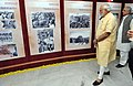 Narendra Modi visiting the exhibition on Late Shri G.L. Dogra to mark his birth centenary, at Jammu on July 17, 2015. The Chief Minister of Jammu and Kashmir, Shri Mufti Mohammad Sayeed is also seen.jpg