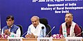 Narendra Singh Tomar interacting with the Chief Secretaries and Rural Development Secretaries of StatesUTs for making District Development Coordination & Monitoring Committee (DISHA) a stronger institutional arrangement for.JPG