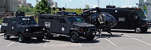 SWAT vehicle - Metro Nashville Police SWAT Vehicles including Peace Keeper, Lenco BearCat, MD 500 helicopter, and Tactical Operations Center