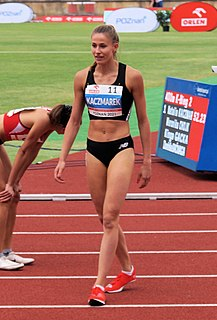 Natalia Kaczmarek Polish sprinter