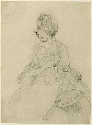 Frederick de Horn - Image: Nathaniel Dance drawing of Angelica Kauffman c. 1767