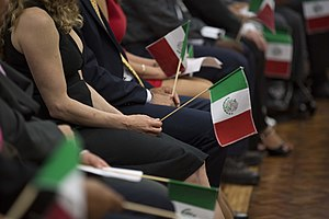 Immigration to Mexico - Immigrants at a naturalization ceremony in Los Pinos.