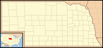 Fort Robinson - Image: Nebraska Locator Map with US