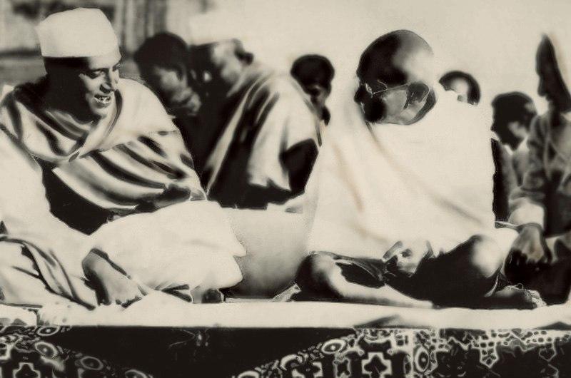 Неру және Ганди 1937жылы