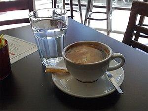 Long black - A long black coffee