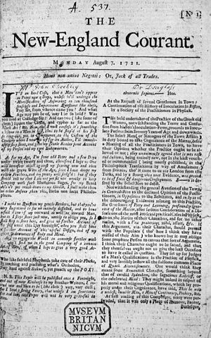 History of American newspapers - The New England Courant