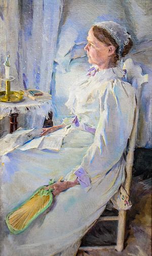 Cecilia Beaux - New England Woman. Portrait of Mrs. Jedidiah H. Richards (Beaux's cousin Julia Leavitt), 1895. Pennsylvania Academy of Fine Arts