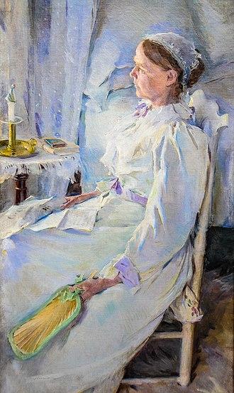Cecilia Beaux - New England Woman. Portrait of Mrs. Jedidiah H. Richards (Beaux's cousin Julia Leavitt), 1895. Pennsylvania Academy of Fine Arts
